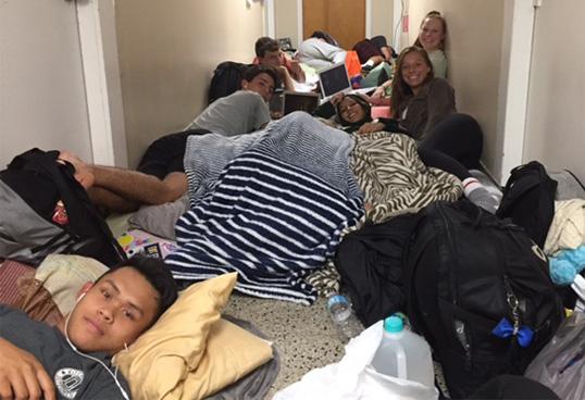 Shelter during Hurricane Irma